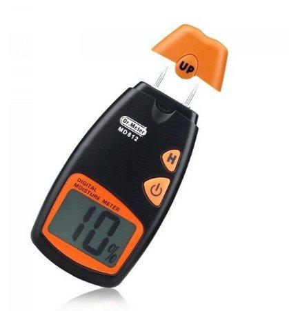 Dr.Meter® MD812 Humidimètre numérique 2-Pin senseur pour les murs, le bois de chauffage, les chapes, le béton et les autres matériaux de construction (pile fournie)