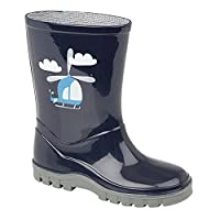 StormWells Childrens/Boys Helicopter PVC Wellington Boots