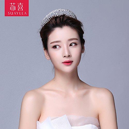 Crown, alloy Crown, neue Tiara, Prinzessin Königin, Strass Krone, Accessoires, Hochzeit Zubehör, eine (Ariel Tiara Prinzessin)