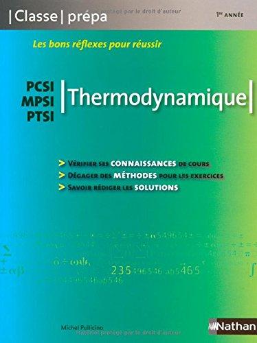 Thermodynamique PCSI / MPSI / PTSI - 1ère année