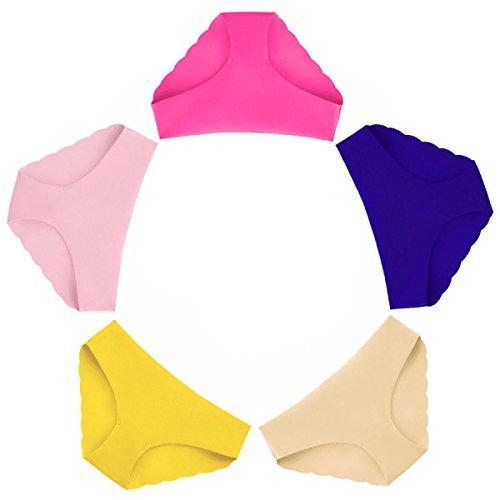 5 Sacs De Femmes Sans Trace Sous-vêtements Taille Basse Sexy Coton Respirant Crotch Hip Hip Sous-vêtements