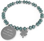 10 Buoni Propositi Bracciale Donna Meglio Deve Ancora Venire Collezione Crystal Silver
