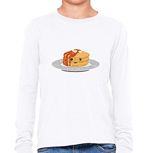 pancakes-breakfast-stack-smiling-drenched-in-syrup-boys-long-sleeve-t-shirt