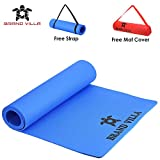 brandvilla Yoga Mat with Carrying Bag Anti Skid Yogamat for Gym Workout