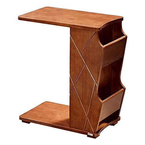 Mingcong Bücherregal-Sofa-Tisch TV-Tablett Laptop-Schreibtisch Abnehmbare Seite Snack-Endtisch Für Kaffee-Bett-Sofa Essen Schreiben Lesen Wohnzimmer,A