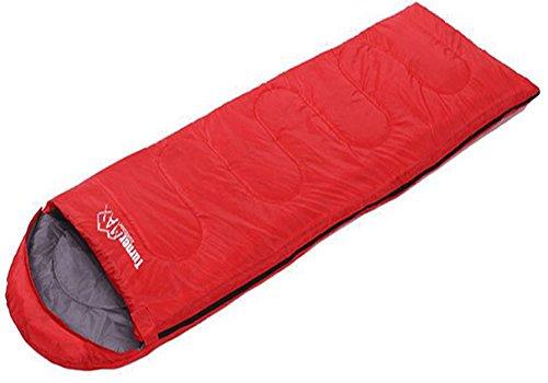 TurnerMAX Einzel-Schlafsack, für den Außenbereich, für Erwachsene, für 1Person, für Wandern, Camping, mit Reißverschluss-Hülle, wasserdicht, rot F/ Einzel