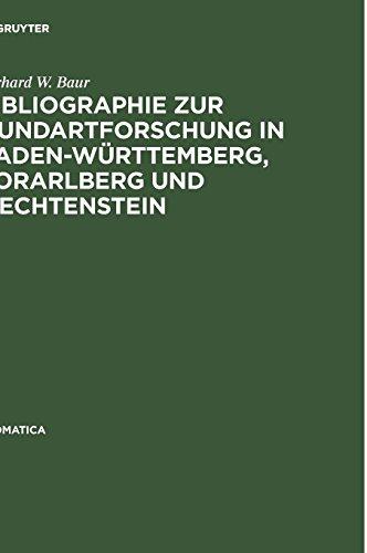 Bibliographie zur Mundartforschung in Baden-Württemberg, Vorarlberg und Liechtenstein (Idiomatica, Band 7)