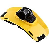 Cinturón de Pesca, Soporte Ajustable para la Cintura de Lucha que Rod Poste de Soporte con la Hebilla Plástica ( Color : Amarillo )