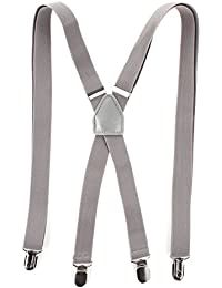 RAY±JAY Schmale Hosenträger X-Modell bis 1,90m mit extra starken Clips