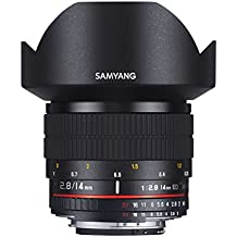 Samyang AE 14 mm IF ED UMC - Objectivo para Nikon, color negro