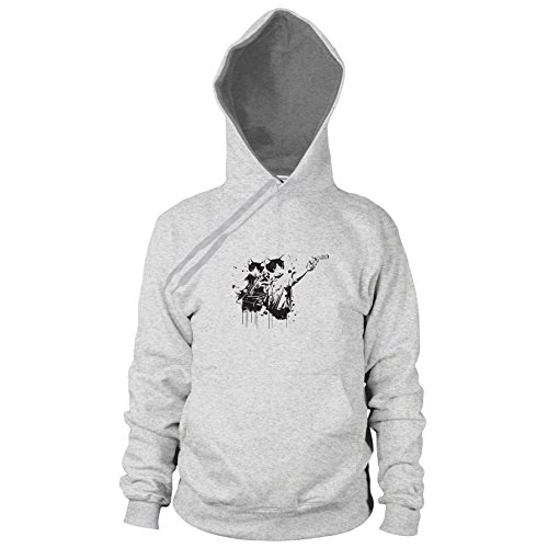 Walking Cats - Herren Hooded Sweater, Größe: L, Farbe: grau meliert (Walking Pc 2 Season Dead Für)