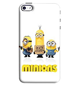 Blue Throat Minions Printed Designer Back Cover/Case For Apple iPhone 4s