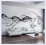 BHXINGMU Benutzerdefinierte Fototapete Moderne 3D Wandbild Tapete Schwarz Weiß Rauch Nebel Kunst Design Schlafzimmer Büro Wohnzimmer Tapeten 250Cm(H)×360Cm(W)