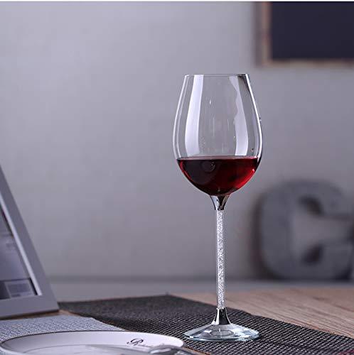 Shengbuzailai cristallo creativo europeo base con strass calice swarovski elements elegante bicchiere da vino rosso