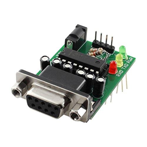 Aexit MAX232 Chip DB9 RS232 Buchse zu TTL Konverter Platine Modul Adapter DC 5V (Db9 Buchse Modul)