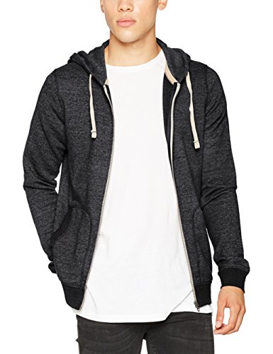 JACK & JONES VINTAGE Herren Sweatjacke Jjvrecycle Sweat Zip Hood Noos, Grau (Caviar Fit:Slim Fit-Melange), Large