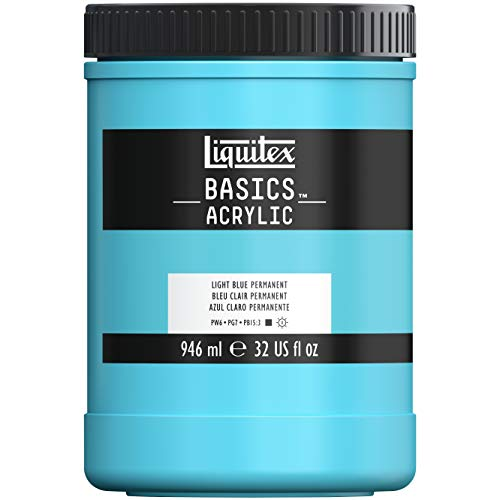 Liquitex Basics Acrylfarbe 32-oz jar Light Blue Permanent -