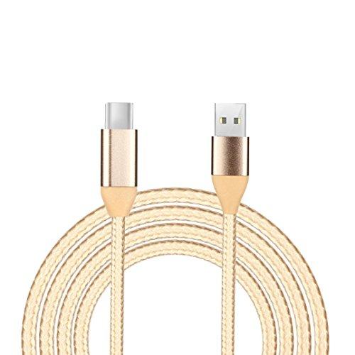 Kingko® 1M, 2M, 3M, Datenkabel USB-Datenkabel 90 Grad rechtwinklig 2A Fast Data Sync Ladekabel (Gold, 2M)