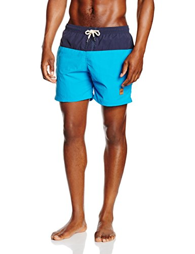 Urban classics block swim shorts, costume da bagno uomo, multicolore (nvy/tur 685), medium