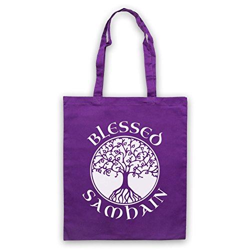 Blessed Samhain gaelico Festival Borsa Purple