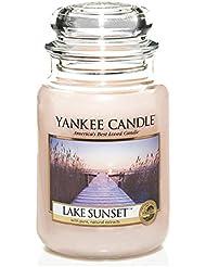 Yankee Candle 1270617E Bougie Parfumée Coucher de Soleil au Bord du Lac Rose