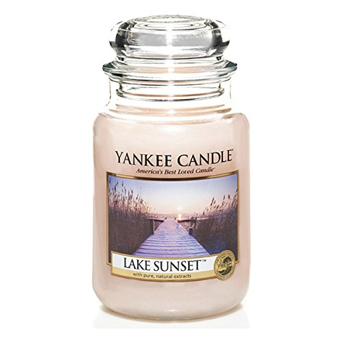 Yankee Candle Glaskerze, groß, Lake Sunset