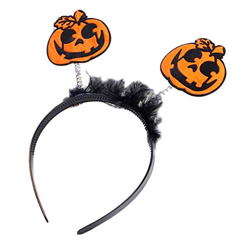 (Manyo Frauen Kinder Halloween Stirnband Frühling Kürbis Bat Buchstaben Haar Hoop Party Kostüm (A))