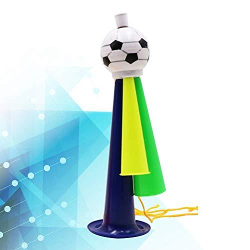 NUOBESTY 5 Stücke World Cup Lautsprecher Fußball Fans Trompete Spiel Party Konzert Horn Kunststoff Ornamente Größe L (Gelegentliche Farbe)