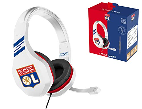 Subsonic Casque Gaming avec micro pour Playstation 4 - PS4 Slim - PS4 Pro - Xbox One - PC - Edition accessoire gamer club OL Olympique Lyonnais