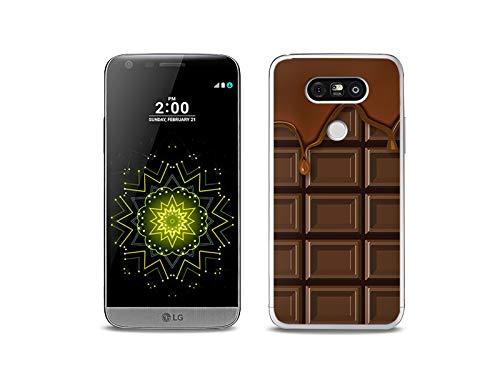 etuo Handyhülle für LG G5 SE - Hülle, Silikon, Gummi Schutzhülle - Schokolade