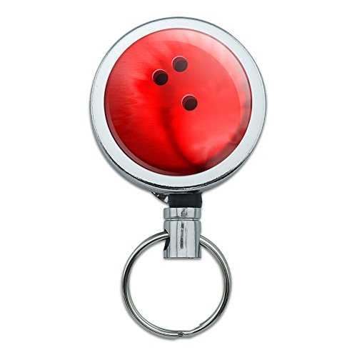 Metall Retractable Reel ID Badge Key Halter mit Gürtelclip Sport und Hobby Bowling - Bowling Halter Ball