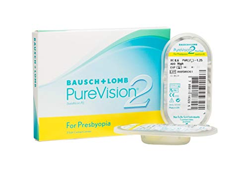 PureVision2 HD for Presbyopia Monatslinsen weich, 3 Stück BC 8.6 mm / DIA 14 / -5 Dioptrien / ADD Low
