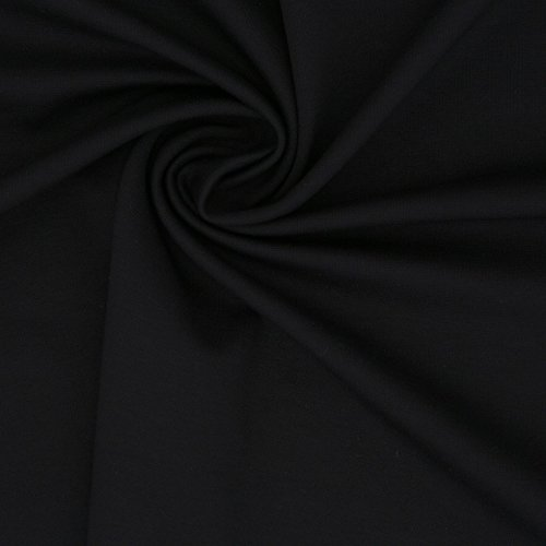 Ponte de Roma Knit Solid g54fabric/Stretch Ponte Knit Stoff - Schwarz - 5 yard Pack -