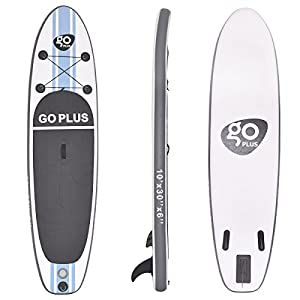 41zWzY8IgiL. SS300  - COSTWAY 10FT/11FT SUP Inflatable Stand Up Paddle Board W/Carry Bag, Repair Kit, Tail Vane, Adjustable Paddle, Hand Pump with Pressure Gauge, Ideal Beginners Soft Surfing Board Kit