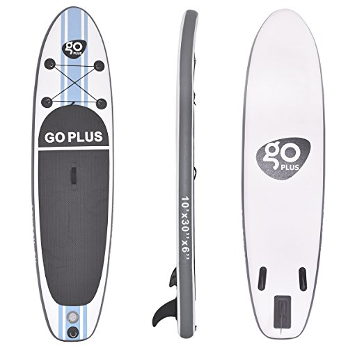 41zWzY8IgiL. SS500  - COSTWAY 10FT/11FT SUP Inflatable Stand Up Paddle Board W/Carry Bag, Repair Kit, Tail Vane, Adjustable Paddle, Hand Pump with Pressure Gauge, Ideal Beginners Soft Surfing Board Kit