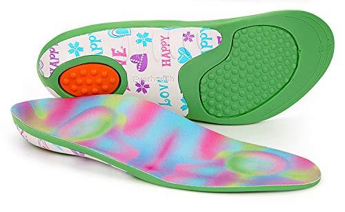 Kids Einlegesohlen Schuheinlagen Orthetik Comfort Arch Support, stoßdämpfende Innensohlen Kissenauflagen für die Ferse, flache Füße, Unter- / Über-Pronation (32-34 EU)