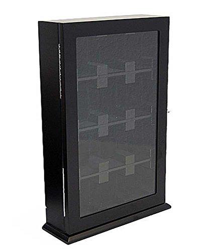 Uhrenvitrine Wand - Tischvitrine für 12 Uhren schwarz