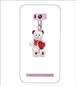 PrintDhaba Teddy Bear D-5599 Back Case Cover for ASUS ZENFONE SELFIE ZD551KL (Multi-Coloured)