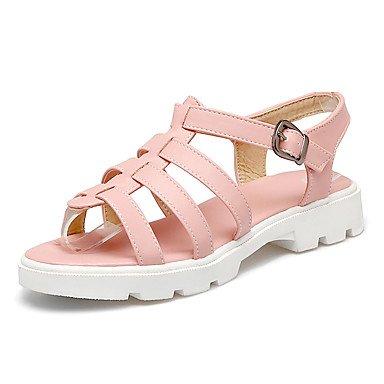 LvYuan Sandali-Tempo libero Formale Casual-Creepers Comoda-Piatto-Finta pelle-Blu Rosa Bianco Pink