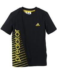 adidas Predator Graphic - Camiseta para niño negro negro y amarillo Talla:176