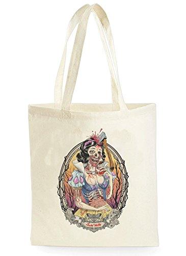 Uk Print King Zombie Snow White Princess, Einkaufstasche fürs Einkaufen, Picknick, Zuhause, Lagerung und Schule, tote bag (Snow Zombie White)