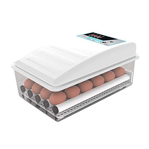 KSWD 18.12.24 Eier Inkubator, Brutkasten Brutapparat Transparent Mini Haushalt Hähnchen Ente Gans Automatik Dual Power, Weiß,S