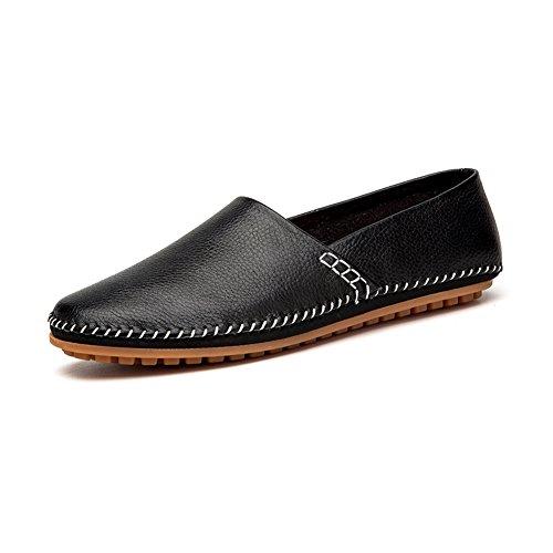 NXY Herren Outdoor Style Klassische Casual Slip auf Loafers Schwarz 43 Bass Loafer
