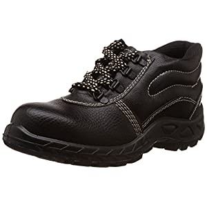 Safari Pro Booster Gold PVC Safety Shoes Steel Toe (Size 10, Pack of 24)