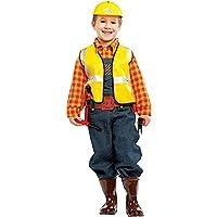 Costume di Carnevale da Carpentiere Vestito per Bambino Ragazzo 1-6 Anni  Travestimento Veneziano Halloween 27d4cc14c6bd