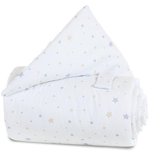 Babybay Grille de fermeture grille de protection pour tous les modèles, bleu azur étoiles Blanc