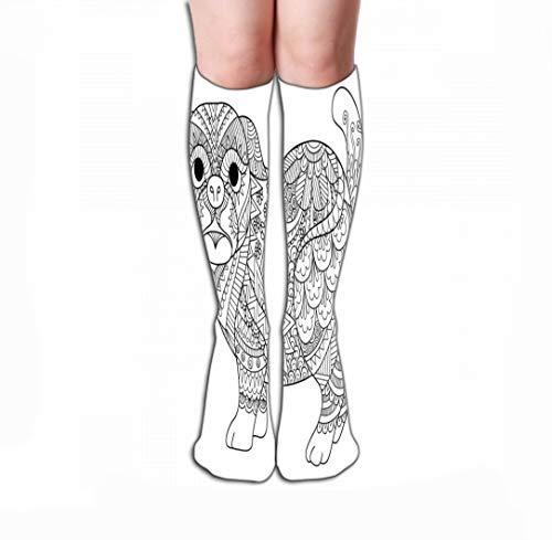 Xunulyn Hohe Socken Men's Dress Socks Fun Athletic Socks 19.7