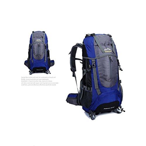 Bergsteigertasche im Freien Sporttasche Wanderrucksack Multifunktions-Einzel Rucksack Blau