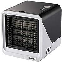 LLDKA Silencioso portátil móvil refrigerador de Aire Acondicionado Enfriador evaporativo, Aire Acondicionado Ventilador 3 en 1 enfriadores,Negro