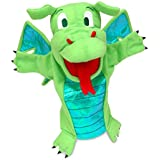 Fiesta Crafts - T-2186 - Marionnettes À Main - Le Dragon - Vert